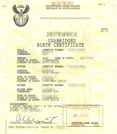 Cabinet fields certified translation quote estimate english one page birth certificate yadclub Images